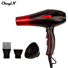 Ckeyin Professional 4000W super power Fast Styling Adjustment Hot and Cold Hairdryer Blow Dryer With 2 Nozzles for Salon A00