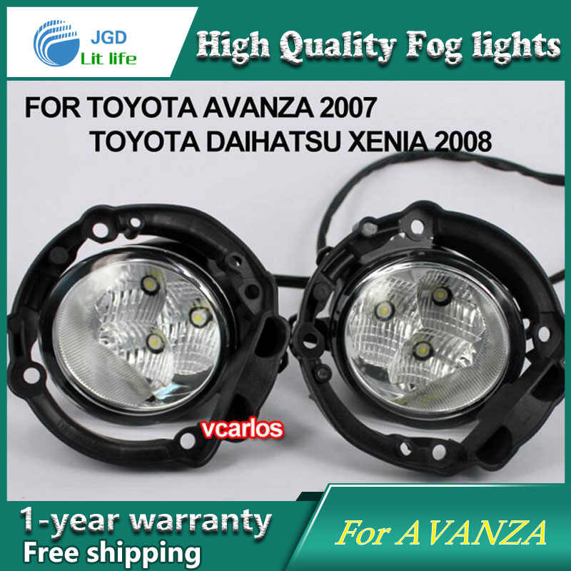 2PCS / Pair LED Fog Light For Toyota AVANZA 2007 High Power LED Fog Lamp Auto DRL Lighting Led Headlamp 2pcs pair led fog light for toyota corolla axio 2007 high power led fog lamp auto drl lighting led headlamp