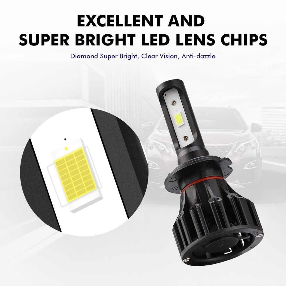 Auxmart T5 Car Headlight H7 H1 9006 Single Beam LED Bulb LED Lamp Auto 72W 8000lm LED Headlamp Car Light For Nissan 350Z TEANA