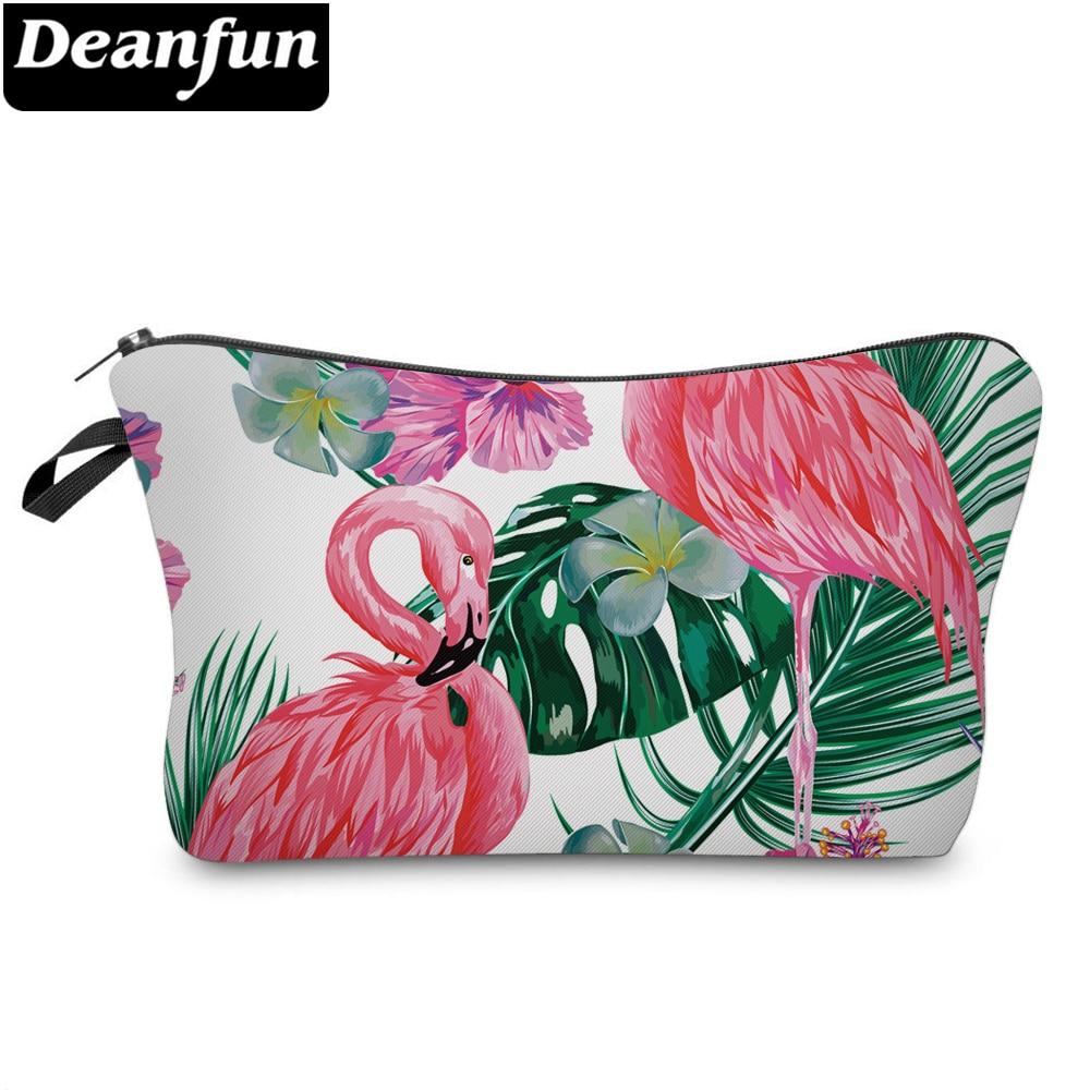Deanfun 3D Printed Flamingo Cosmetic Bags Necessaries For Women Party Makeup Organizer  51301