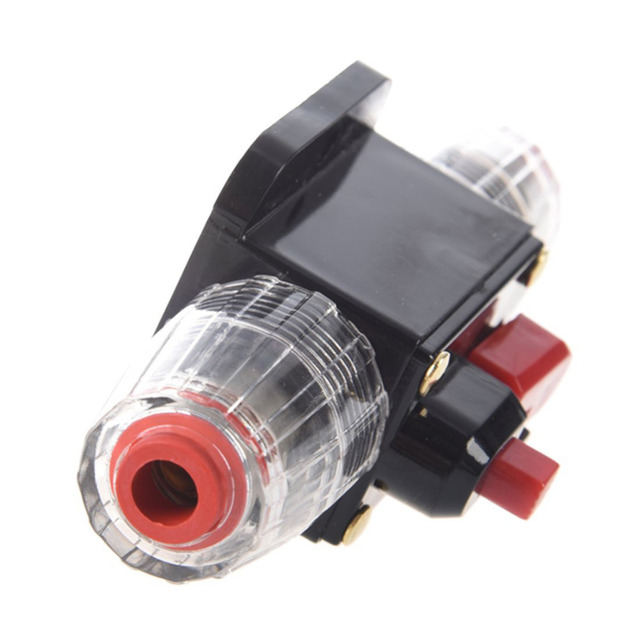 Car Auto Accessory DC 12V 20 Amp Audio Stereo Circuit Breaker Manual Reset Replace Fuse Holder For System Protection