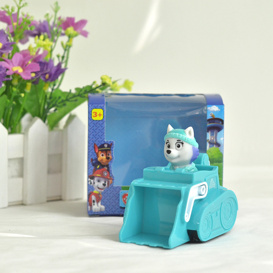 ATOY Puppy Patrol Patrulla Canina Toys Anime Snow Patrol Dog Everest Chase Car Russian Kid Toy Spain Patrol Canine for Gift