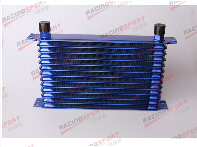 ФОТО 13 Row aluminum alloy 10AN universal Trust style oil cooler OICC-13blue