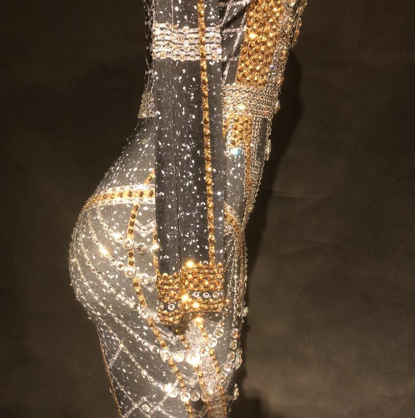 Plein Performance Body Parti Costume Classique Célébrer Stade Reine Discothèque Cristaux Pierres Femmes Salopette Jumpsuit Sexy Mousseux OXxFIw