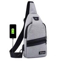 New USB Thiết Kế Ngực Phụ Nữ Ba Lô Người Đàn Ông Sling Bag Crossbody Một Dây Đeo Vai Rucksack Polyester Chữ Thập Body Travel Túi