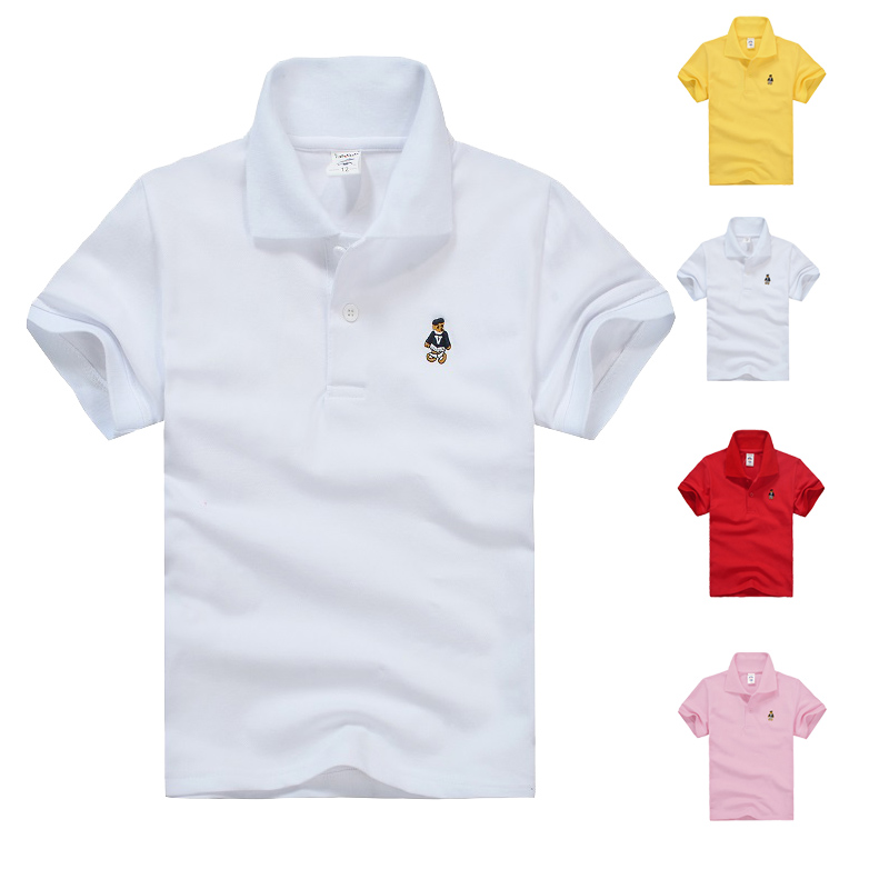High Quality Kids Solid Polo Shirts Summer Boys Girls Clothes White Red  Yellow Colors Children T e833e6a025ba2