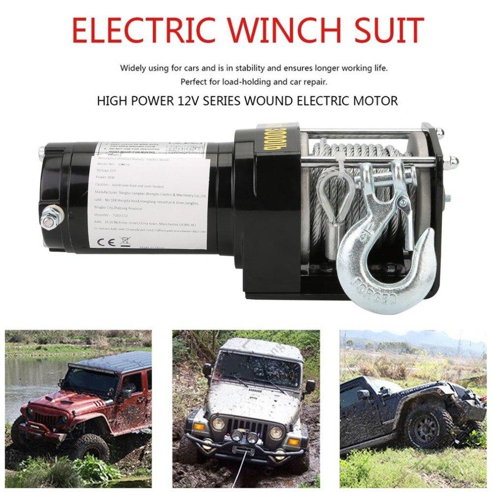 Здесь можно купить  Professional 12V Electric Winch 3000LB Load Capacity Car Auto Lift Winch With Control System Remote Control Car Lifting Tools  Инструменты