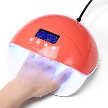 Secador rápido 50W LED Nail Lamp 28 Leds Pantalla LCD Secador de uñas Lámpara UV Manicure Timer (30s 60s 90s) Curado Nail Art Gel Polaco Herramientas