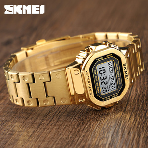 Image 3 - SKMEI модные парные цифровые часы Секундомер Календарь светящиеся уличные часы водонепроницаемые наручные часы Reloj Mujer 1456 1433