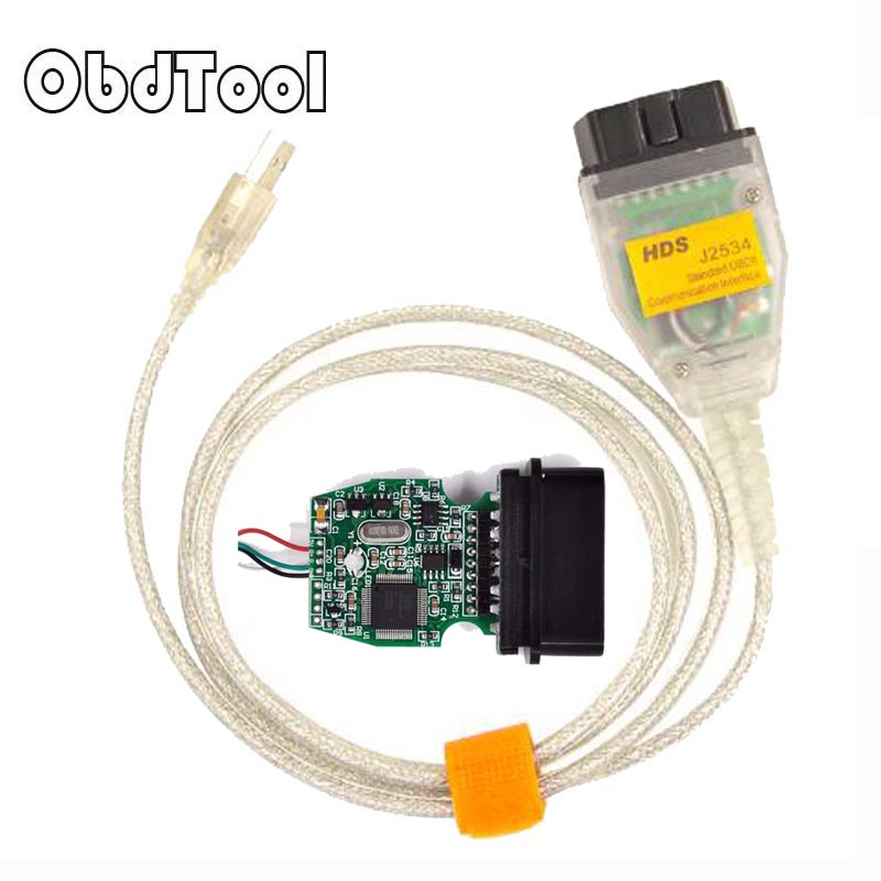ObdTooL For Honda HDS OBD J2534 MVCI OBD2 OBDII Diagnostic Cable PCMScan Running on ISO Hardware V1.4.1