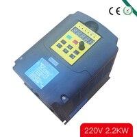 CE 2.2KW 220 V преобразователь частоты переменного тока 400 HZ VFD привод переменной частоты с ручкой потенциометра AC инвертор
