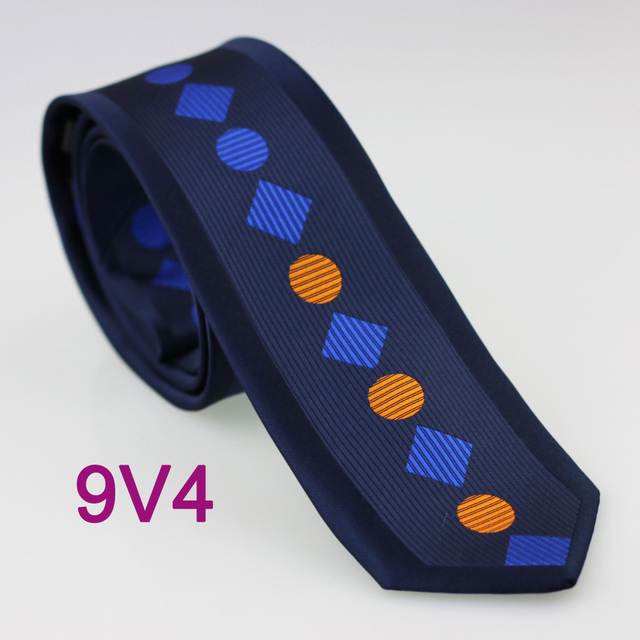 2e6939d1f60c YIBEI Coachella Ties Woven Navy Blue Tie Skinny Border Stripes Orange Royal  Checked Polka Dot Neckties Adults 6cm Narrow Ties