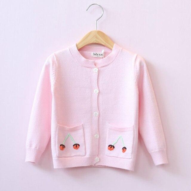 2017 модные девушки весной одежда верхняя одежда cardigen вязаный свитер трикотаж Дети Девушка Кардиган Трикотажные пальто