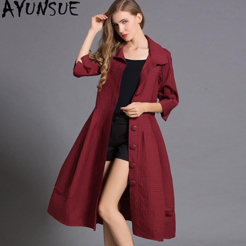 AYUNSUE Casaco Feminino Autumn Outwear Women Trench Coat Long Coats Ladies Big Size High Quality Coat Women Abrigo Mujer KJ122