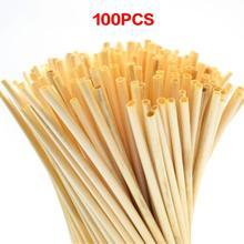 100 Wheat Straw Environmental Straws Bar Household Tableware Accessories