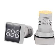 Квадратный 22 мм Диапазон измерения 20-75 Гц цифровой дисплей электричество Герц метр частотомер индикатор сигнальный светильник комбинированный тестер