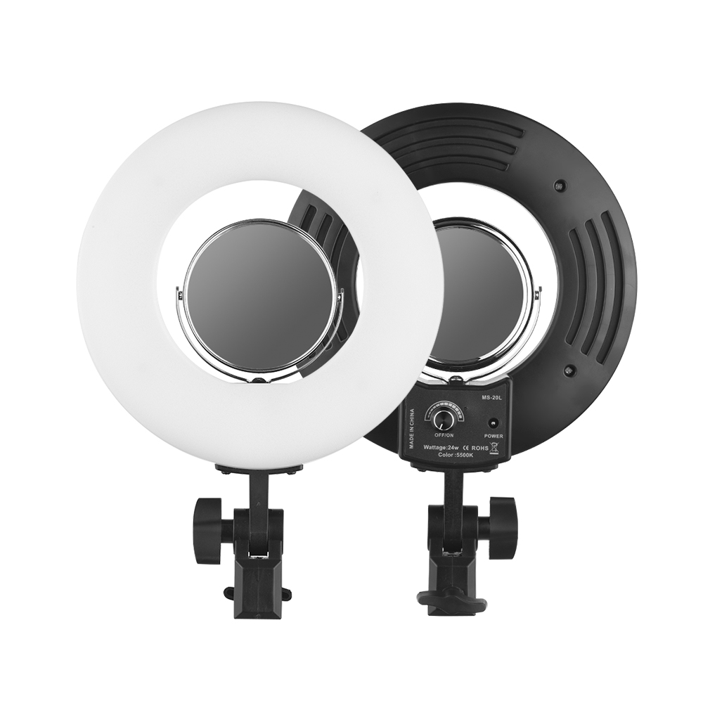 Mini table LED Ring Light 8 24W Stepless adjustable 5500K Photo/Video for Home Media Film Studio LIVE Makeup barber shop