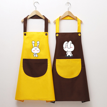 Korean fashion apron home kitchen cooking waterproof oil-proof female cute overalls
