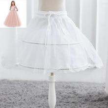 Dress Skirt Petticoat Lace-Trim Flower-Girl White Kids Children Formal One-Layer Crinoline