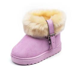 2018 зимние детские теплые низкие ботинки в Корейском стиле с манжетами для мальчиков и девочек, хлопковые зимние ботинки