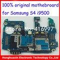 Para samsung galaxy s4 i9500 desbloqueado placa base 100% placa de circuito placa base 100% placa lógica original de la versión europea del trabajo