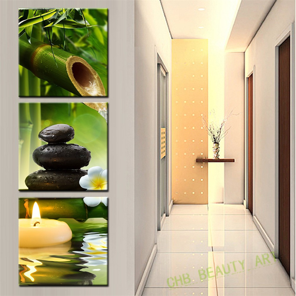 3 Pcs/Set Artist Canvas Still Life painting Bamboo and Stone ...
