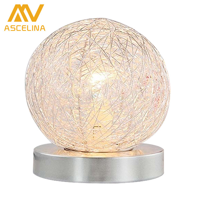 Simple adjustable light romantic fashion decorative lamp round simple adjustable light romantic fashion decorative lamp round aluminium wire warm bedroom bedside lamp night light greentooth Image collections