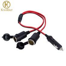 KWOKKER Car Charger Cigarette Lighter 2 in