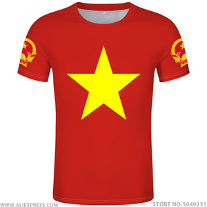 Image 1 - VIET NAM maglietta fai da te di trasporto custom made nome numero di vnm t shirt nazione bandiera vn vietnam vietnamita paese la stampa di testo vestiti foto