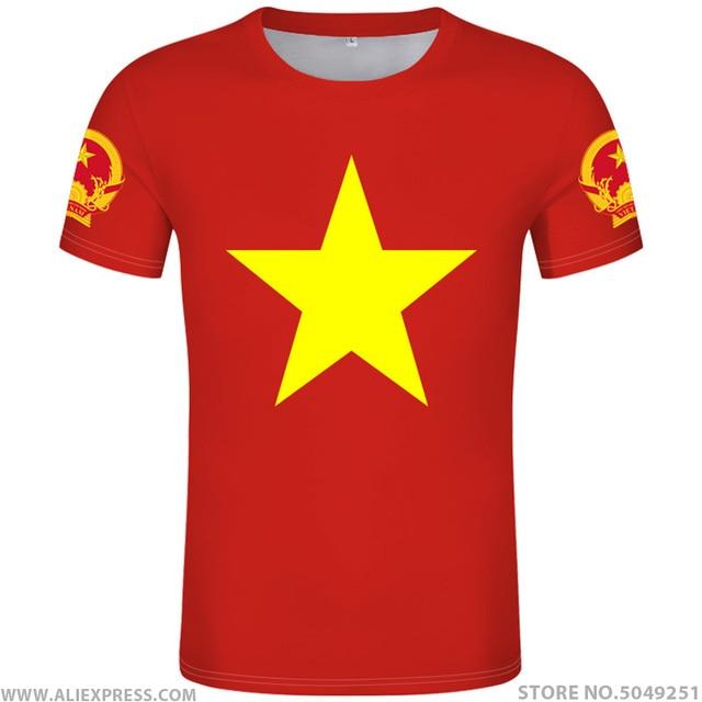 VIET NAM maglietta fai da te di trasporto custom made nome numero di vnm t shirt nazione bandiera vn vietnam vietnamita paese la stampa di testo vestiti foto