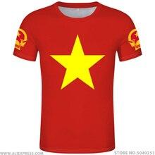 VIET NAM t gömlek diy ücretsiz custom made adı numarası vnm t shirt ulusal bayrak vn vietnam vietnamese ülke metin baskı fotoğraf giysi