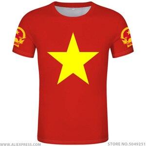 Image 1 - ויאטנם t חולצה diy משלוח תפור לפי מידה שם מספר vnm חולצה האומה דגל vn וייטנאם וייטנאמי המדינה טקסט הדפסת תמונה בגדים