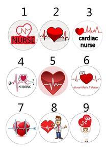 Image 3 - ソートハートビート看護師心臓ナース格納式 ID バッジリール金属クリップ 10 ピース/ロット