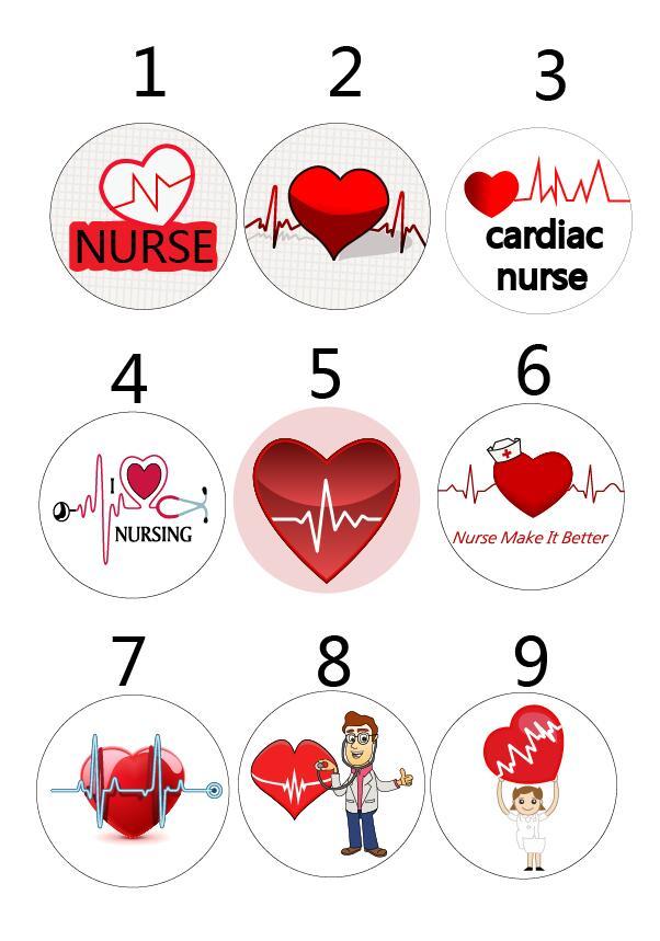 Image 3 - Sorted Heart Beat Nurse RN Cardiac Nurse Retractable ID Badge Reel with metal clip  10 pcs/lotBadge Holder & Accessories   -