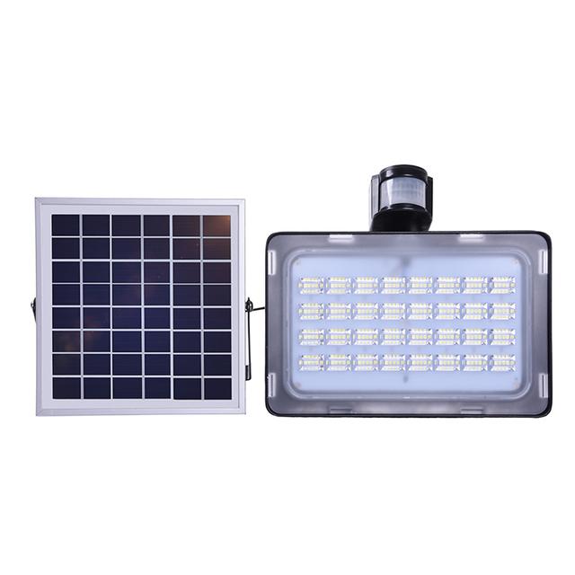 5PCS GERUITE Solar Floodlight 50W LED Lamp With PIR Motion Sensor Flood Lights SMD 5730 12V 24V Outdoor Lighting