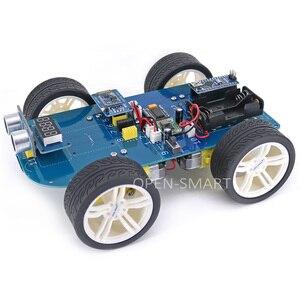 Image 3 - Dễ dàng Cắm 4WD Nối Tiếp Bluetooth Kiểm Soát Cao Su Bánh Răng Bánh Xe Động Cơ Thông Minh Xe X Kit với Hướng Dẫn đối với Arduino Nano/ UNO R3/Mega2560