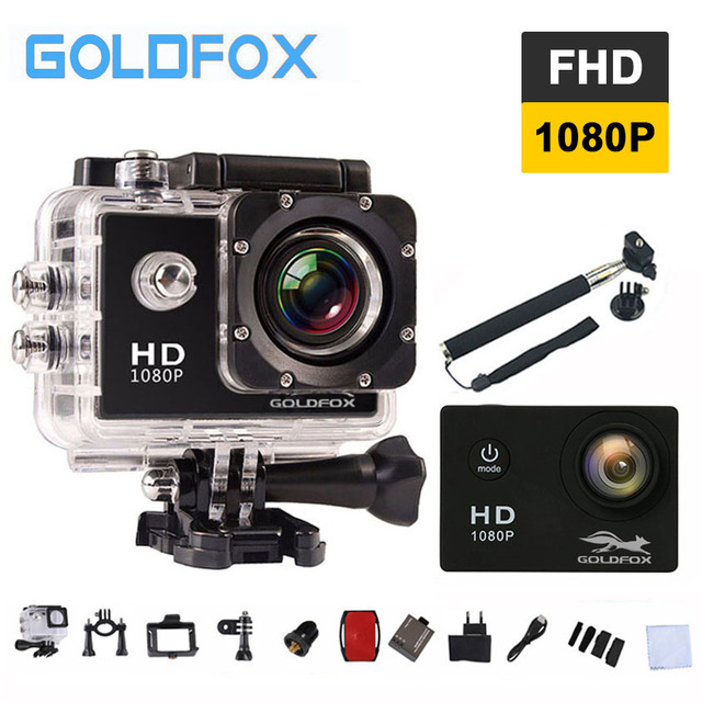 Goldfox 12mp 1080p Full Hd Action Camera 30m Go Waterproof Pro