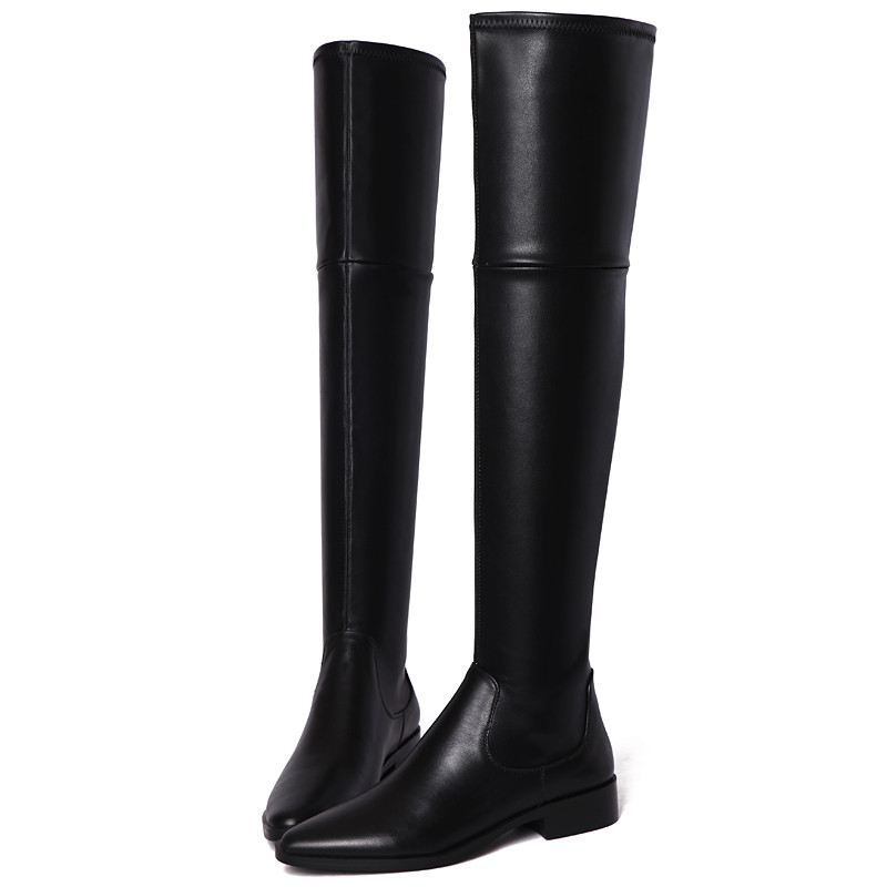 Chaussures D'hiver 1 2 En Pu Classique Sur Bottes Noir Le Automne Genou Cuir Longue black 2018 Mode Femme Black Nouveau Arrivent Smirnova De Suede f7YmIgyv6b