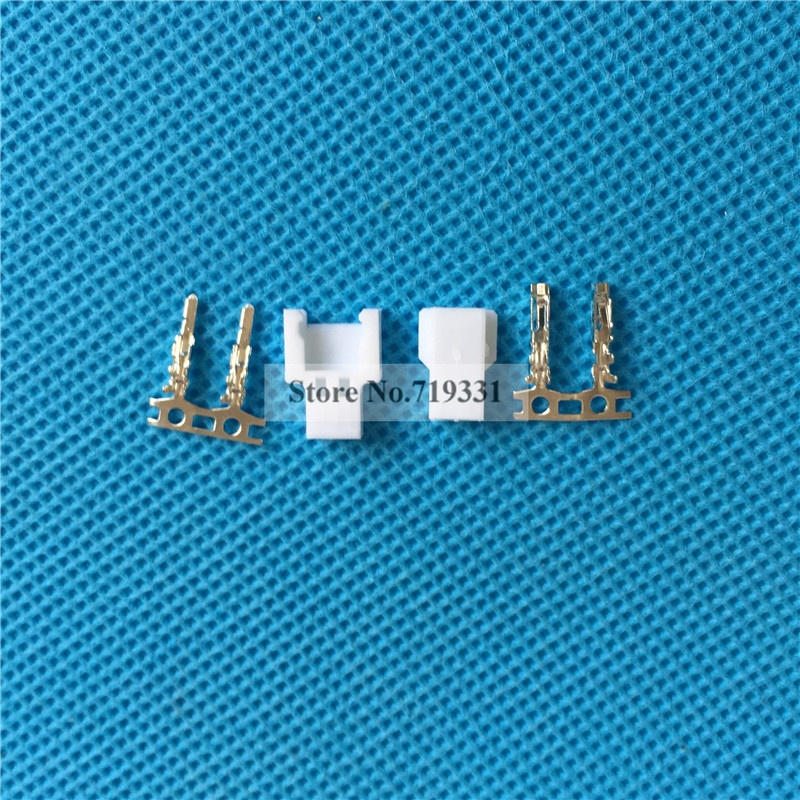 Micro JST Losi Walkera 2-pin Connector plug Male, Female x 50 Sets mini micro jst 2 0mm t 1 6 pin connector w wire x 10 sets 6pin 2 0mm