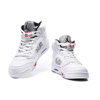 "Original New Arrival Authentic Nike Air Jordan 5 Retro ""Supreme"" Mens Basketball Shoes Sport Outdoor Sneakers 824371-101 1"