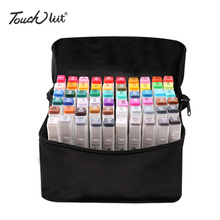 Touchliit Art Marker 204 Colors Alcoholic Oil Marker Double Ended Fine Tip Art Painting for Anime/Building/Clothes/Landscape