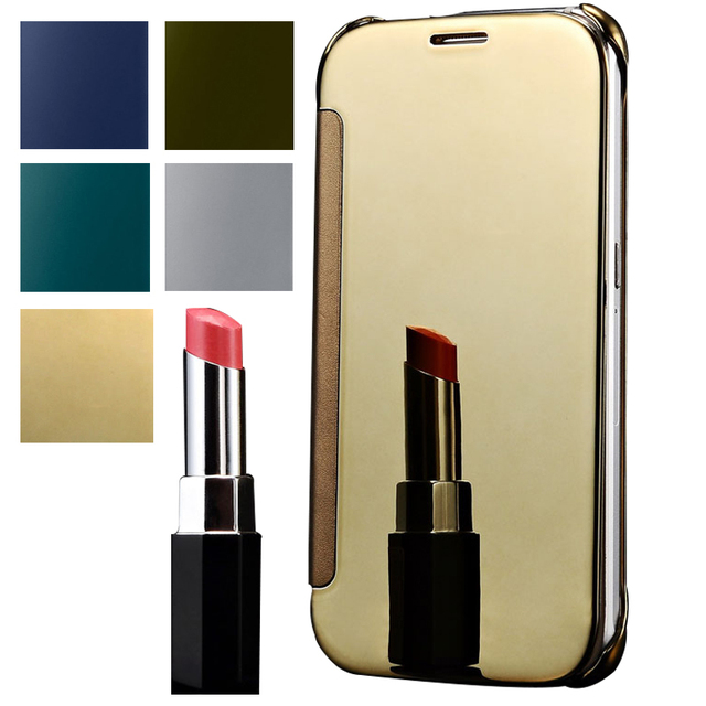 promo code cd6ed 08579 US $6.65 |A5 Gold Mirror Style Hard Flip Cover Case For Samsung Galaxy A5  Hot PU Leather Luxury Mobile Phone Bag Cover Coque For Galaxy A5 on ...