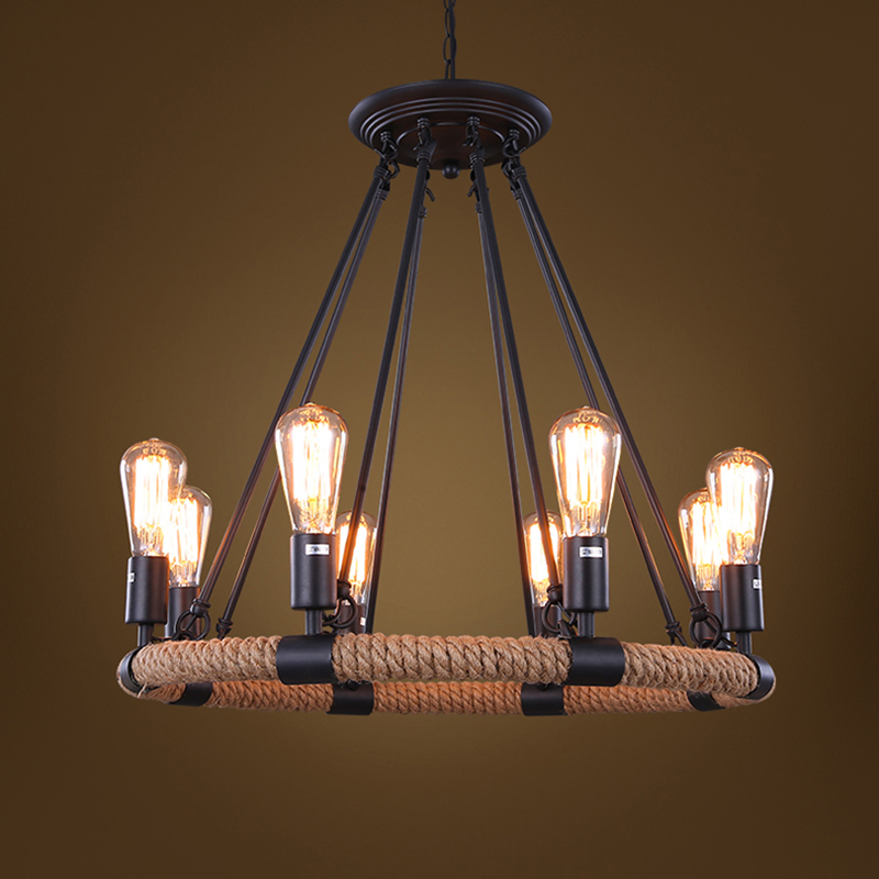 Mordern Nordic Retro Edison Bulb Light Chandelier Vintage Loft Antique Adjustable DIY E27 Art Ceiling Lamp Fixture Light VALLKIN vintage nordic retro edison bulb light chandelier loft antique adjustable diy e27 art spider pendant lamp home lighting