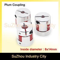 New Sale 3pcs 8mm To 14mm CNC Starter Shaft Coupler Connector Flexible Jaw Spider Plum Coupling
