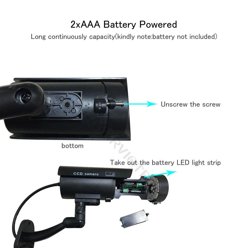 Поддельная пустышка камера наружная пуля Водонепроницаемая домашняя охранная камера видеонаблюдения с мигающим красным светодиодом