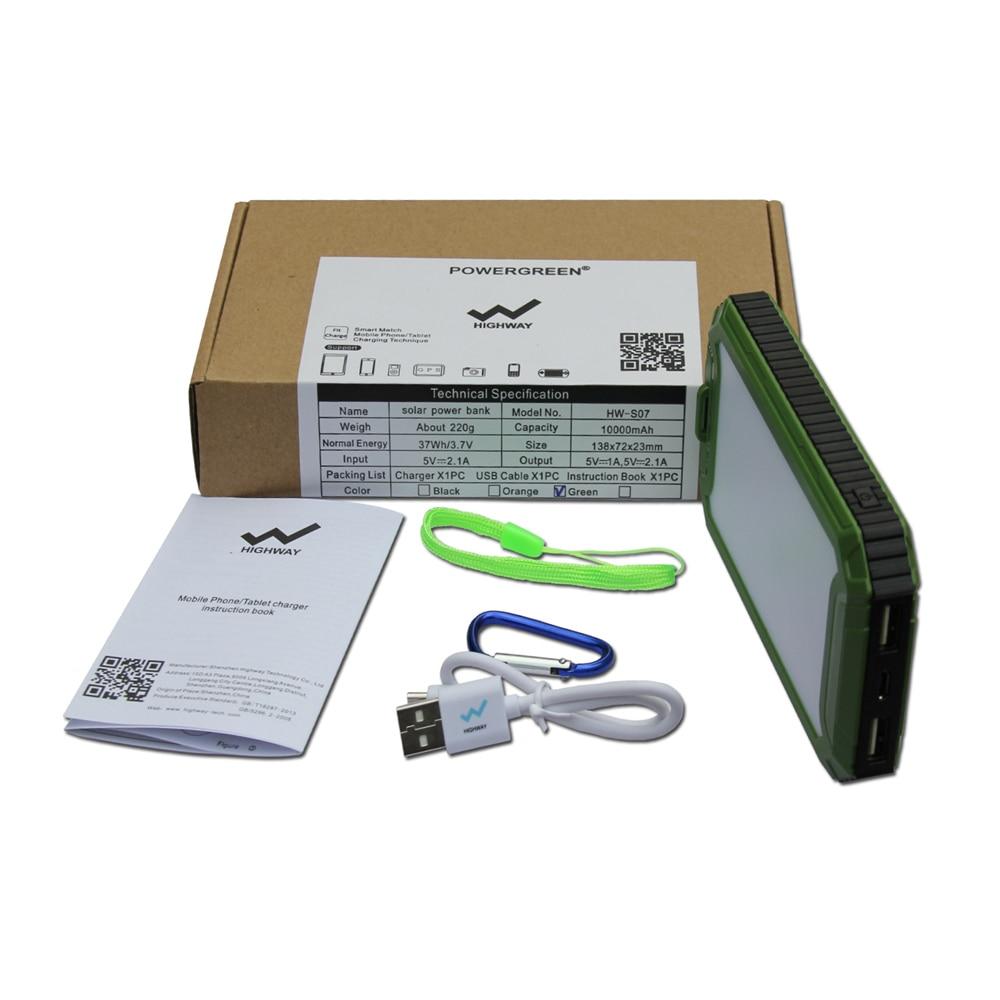 PowerGreen Solar Charger Emergency Battery Backup 10000mah Dual - Reservdelar och tillbehör för mobiltelefoner - Foto 6