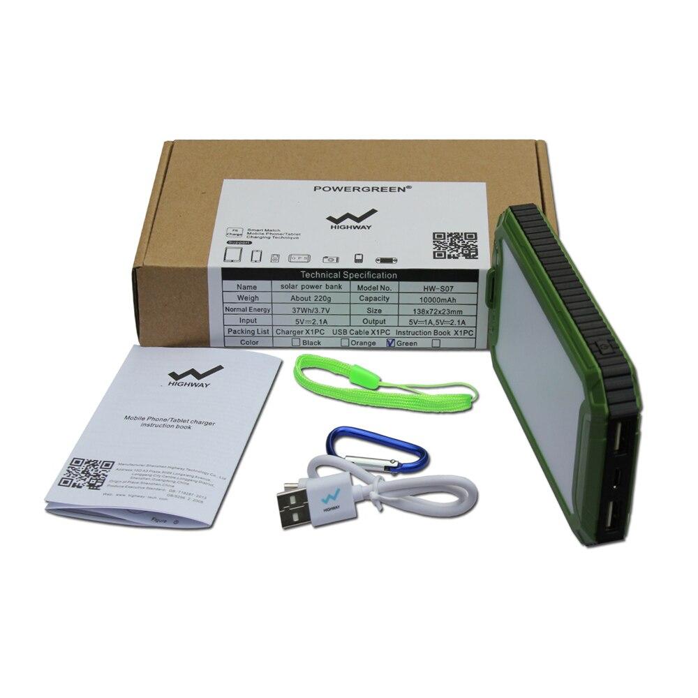 PowerGreen Solar Charger Backup Baterai Darurat 10000mah Dual Output - Aksesori dan suku cadang ponsel - Foto 6