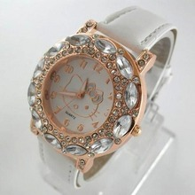 13e03f67b Hello Kitty Watch Children Girls Women Fashion Crystal Dress Quartz  Wristwatches