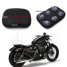 купить Motorcycle Part Rear Passenger Seat Pad Cushion Pillion with 6 Suction Covers For Harley Dyna Sportster Softail Touring 883 по цене 537.98 рублей