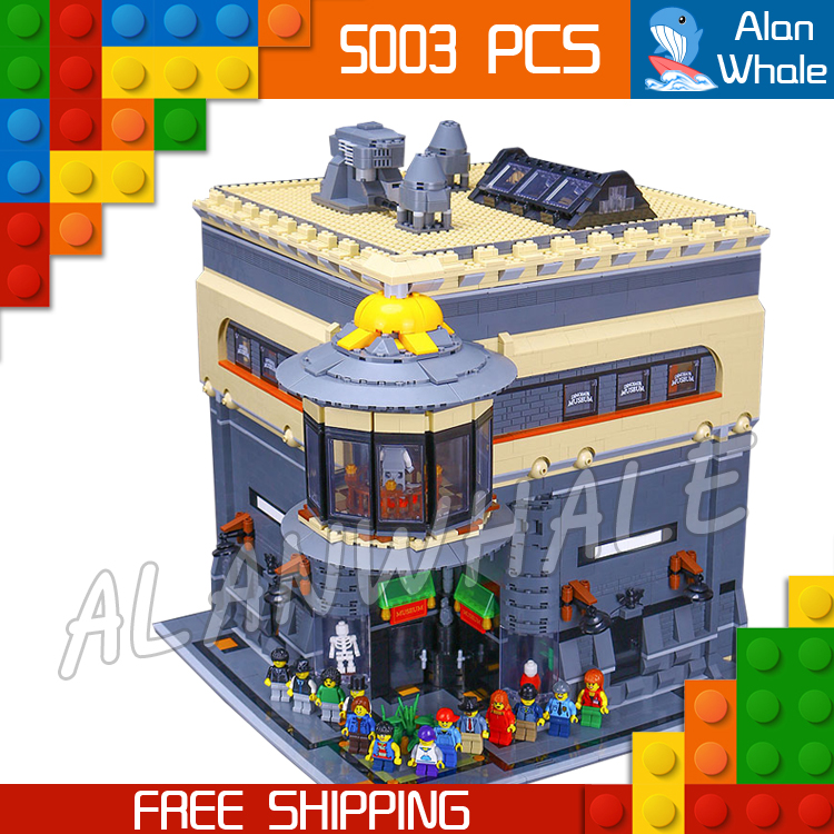 5003pcs New 15015 DIY The dinosaur museum Modular Building series Figure Kit Blocks Gifts Toys Compatible With <font><b>LegoING</b></font> image
